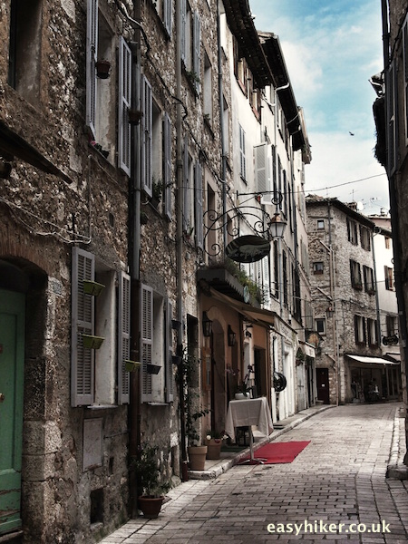"""A street in Vence, a busy hilltop town"""