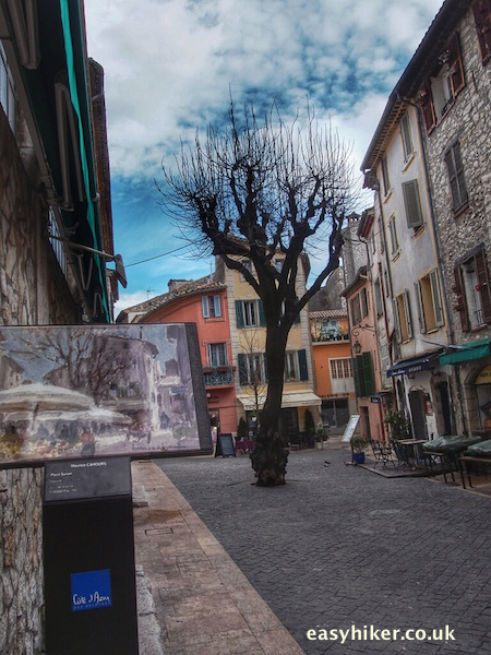 """painting representing street in Vence """
