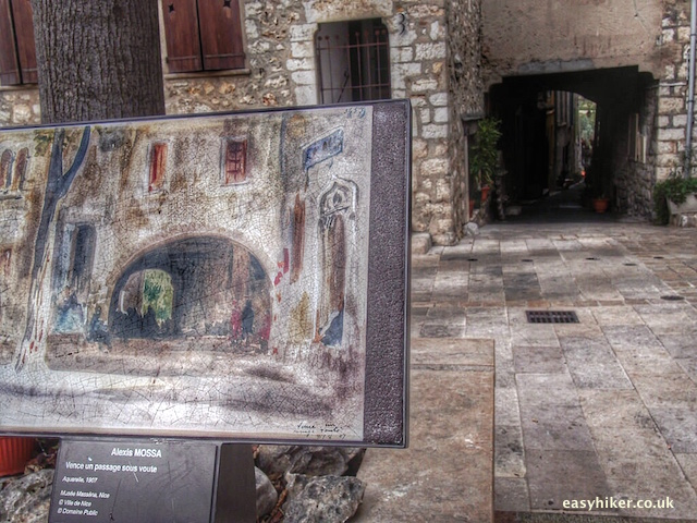 """street alley represented in a painting in Vence"""