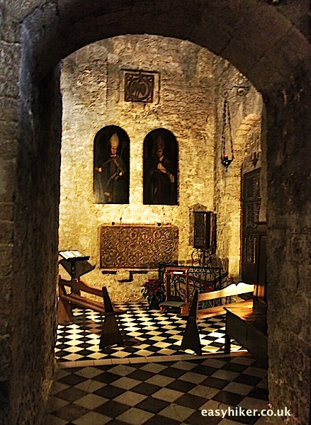 """part of the interior of the Cathedral of Vence"""