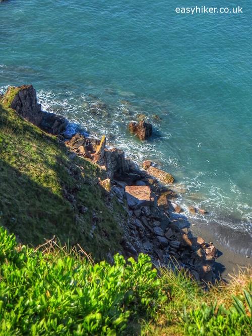 """Beach in Thurlestone along the South West Coast Path"""