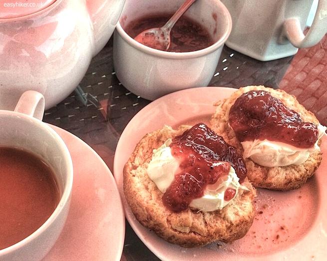 """""""Scones, tea, clotted cream and strawberry jam"""""""