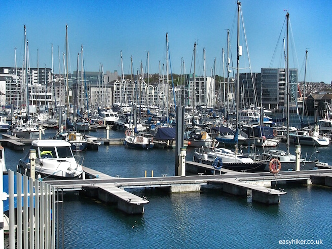 """The harbour along the Plymouth Waterfront Walkway"""