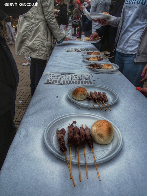 """meat course of the Passegiando/Assaporando hiking Italian style"""