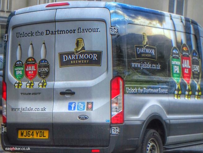 """van delivering Jail Ale in Dartmoor"""