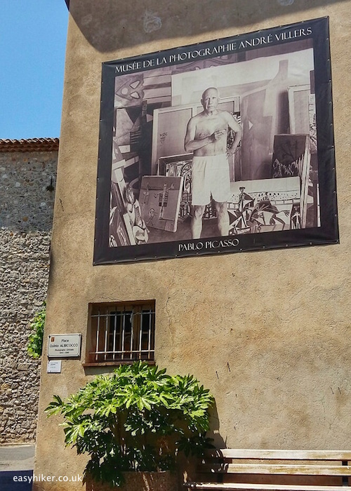 """Picasso poster in Mougins"""