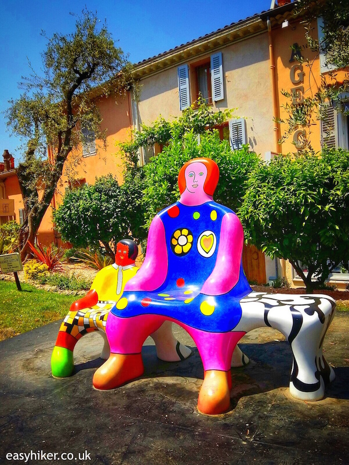 """LE BANC DES GENERATIONS by Niki de Saint-Phalle Monumental at Mougins"""