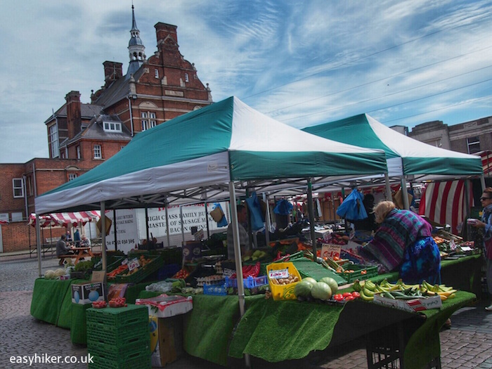 """""""Market Square in top borough Enfield in London"""""""