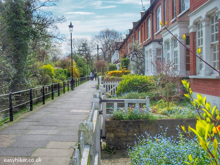 """""""houses alongside New River in Enfield London - top borough"""""""