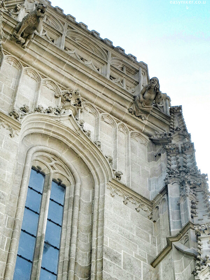 """human figure gargoyle on the St Elizabeth's Cathedral in Kosice"""