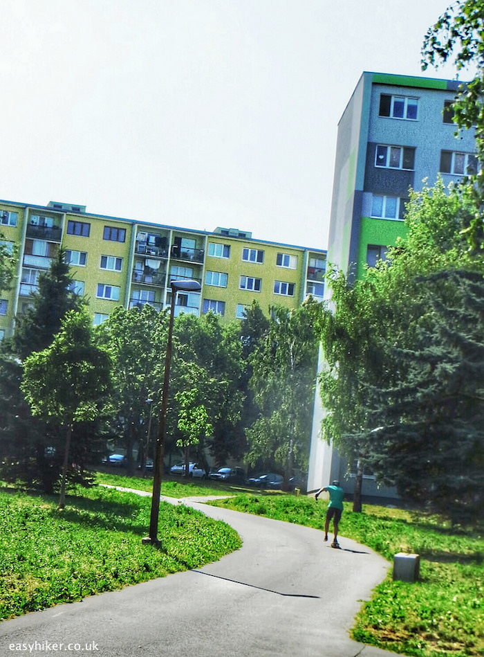 """The housing tower blocks of Kosice in Slovakia"""