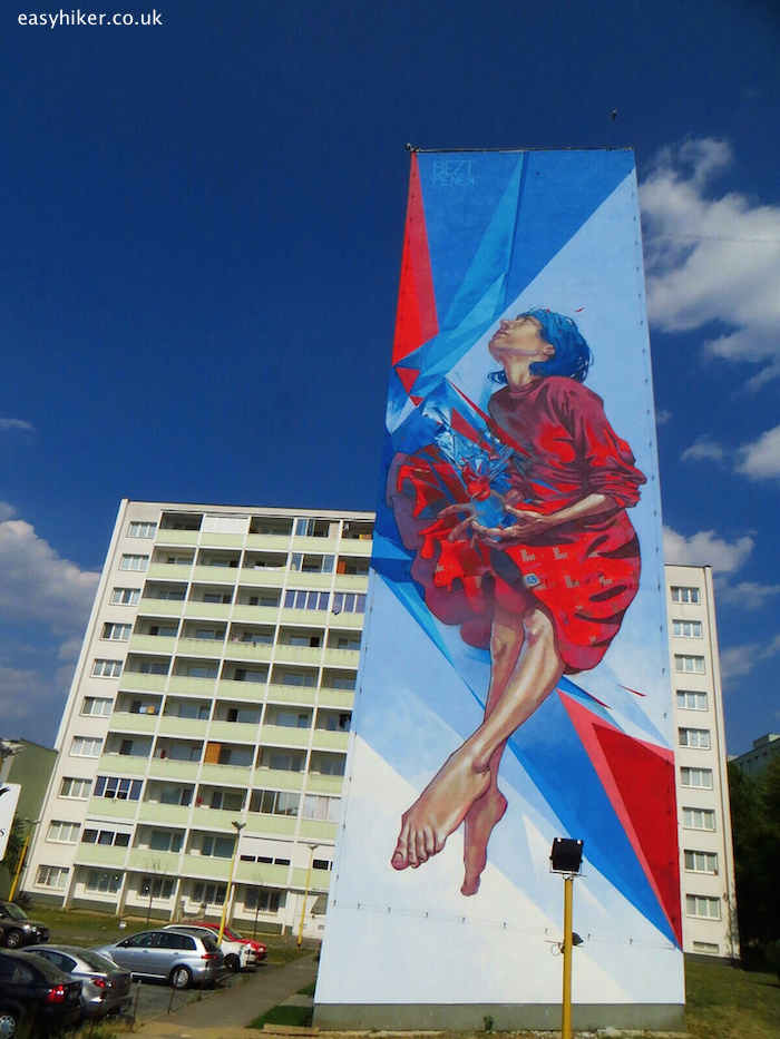 """mural on one of the buildings in Kosice"""