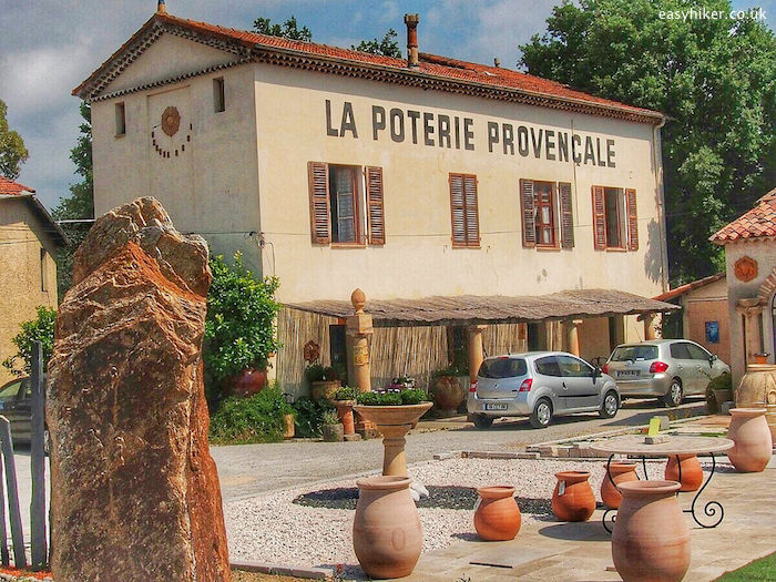 """""""Pottery shop in Biot where the back country wins"""""""