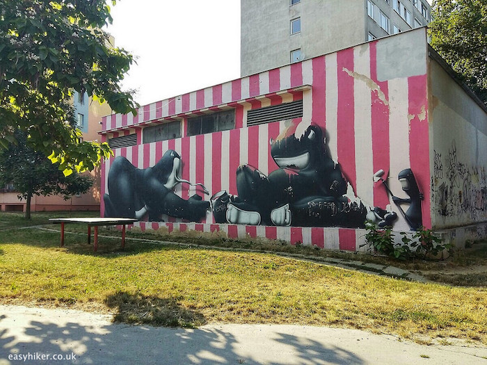 """""""work of CART 1 from Lyon - murals of Kosice"""""""