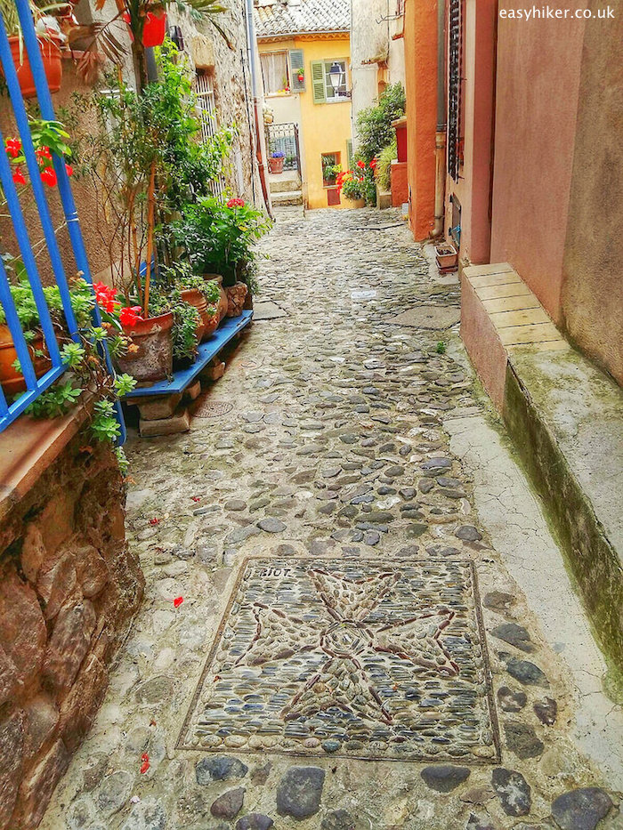 """""""street in Biot paved with stones"""""""