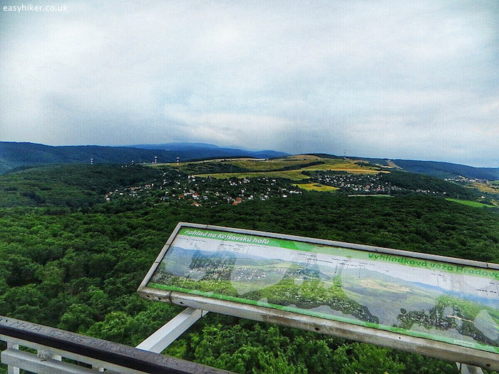 """view of the countryside of Slovakia from the observation tower"""
