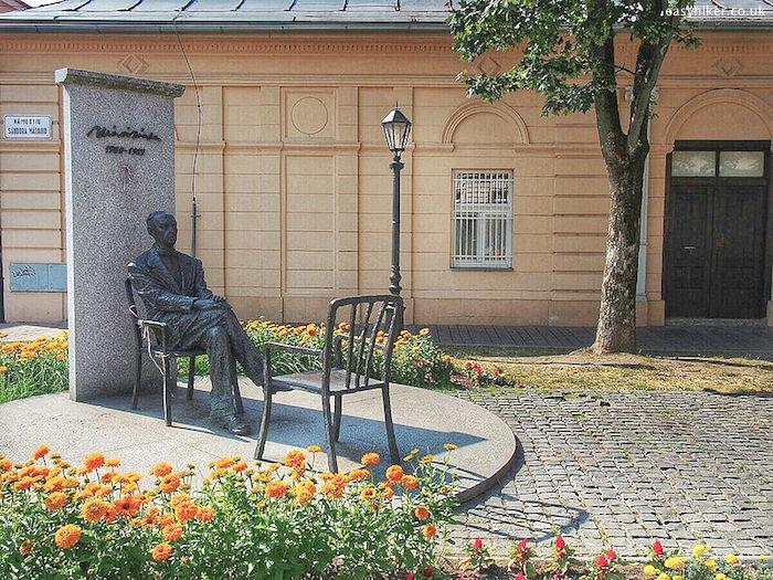 """statue of Sandor Marai in Kosice Slovakia"""""