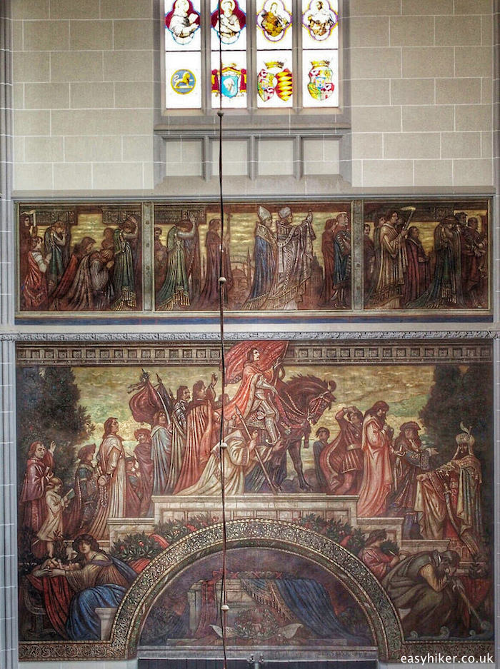 """Mural in the St Elizabeth's cathedral in Kosice"""