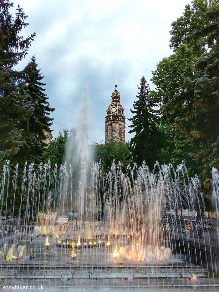 """Singing Fountain of Kosice Slovakia"""