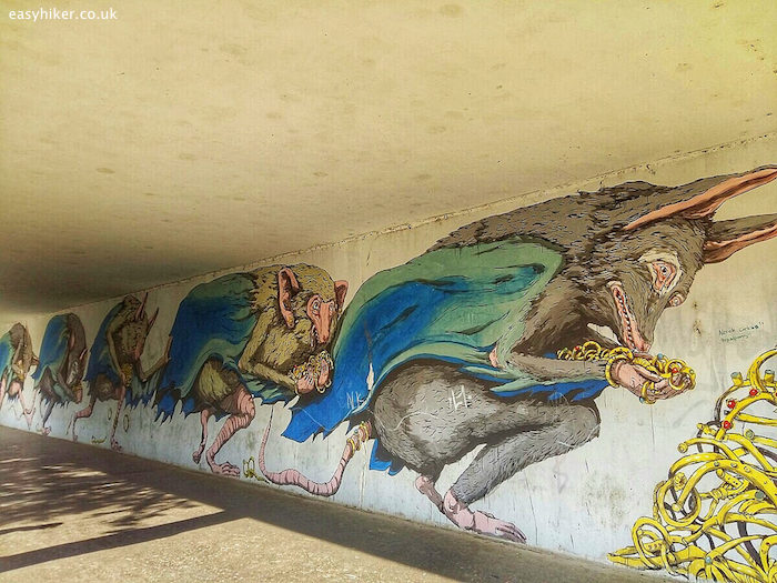 """""""one of the murals of Kosice by Erica Il Cane"""""""