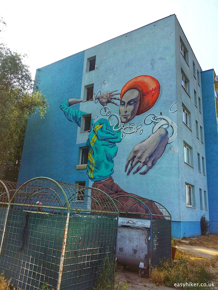 """"""" local painter REUS made this as one of the murals of Kosice"""""""