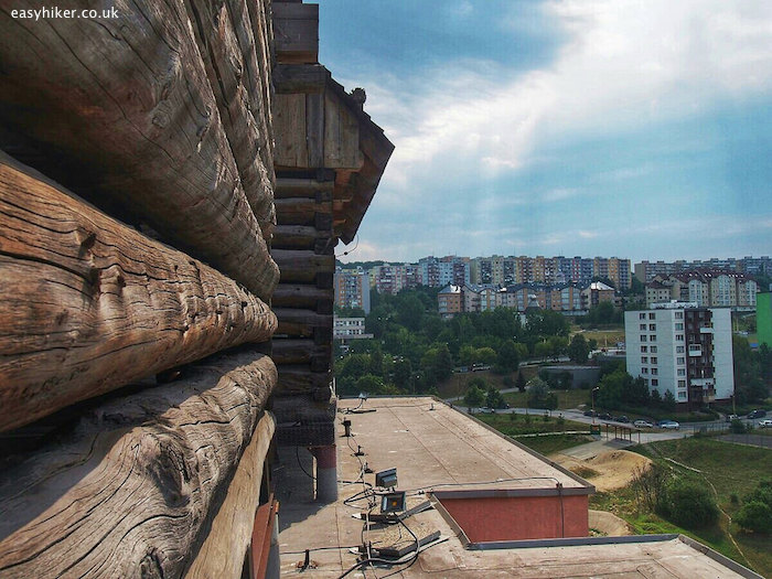 """The view of the city from the Log Cabin Penthouse of Kosice"""