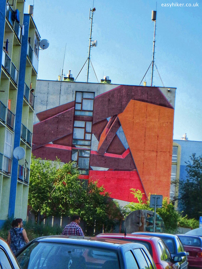 """""""a graffiti on the wall of the Police Headquarters in Kosice by CAKES from Prague"""""""