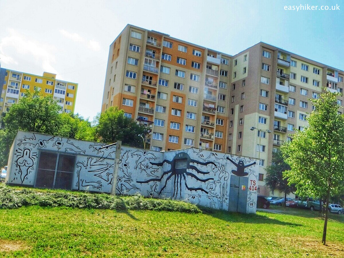 """""""a mural by work by Radovan Repicky in Kosice, Slovakia"""""""