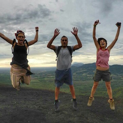 Hiking and Volcano Boarding in  Nicaragua