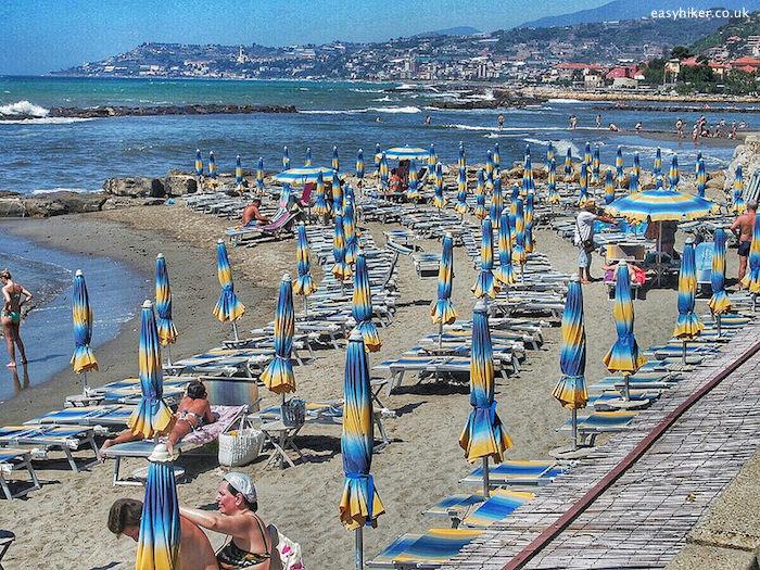 """""""stretch of Santo Stefano beach, Liguria"""""""