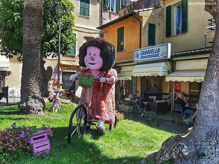 """""""Mafalda statue in Santo Stefano Liguria"""""""