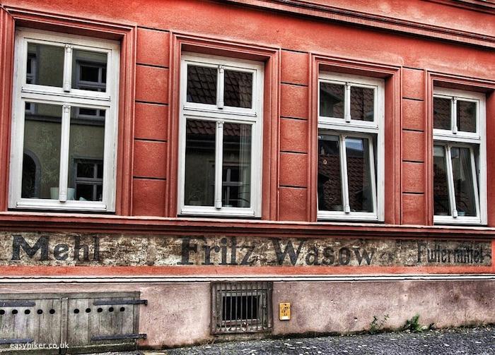 """old building in Stralsund - gateway to Ruegen and Usedom"""