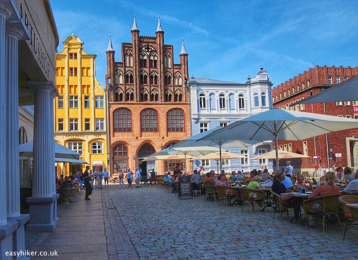 """""""city center of Stralsund in the Ostsee of Germany"""""""