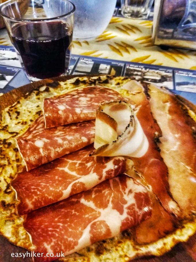 """""""local ham and pancake served in the Rifugio Citta di Novarra"""""""