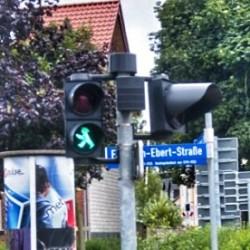 """green light man in east Germany"""