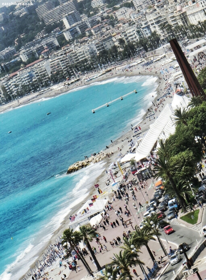 """sunshine and spectacle along the Promenade des Anglais in Nice"""