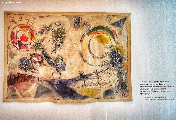 """Chagall painting - part of the sunshine and spectacle in Nice"""