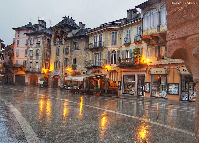 """Piazza Mercato on a rainy day - D for Domodossola"""
