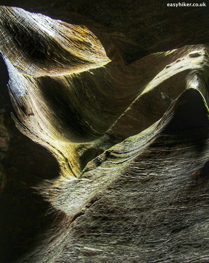 """jagged shapes of the rocks inside the Orridi di Uriezzo"""