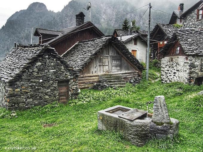 """""""village around Lake Cheggio in the Ossola valley"""""""