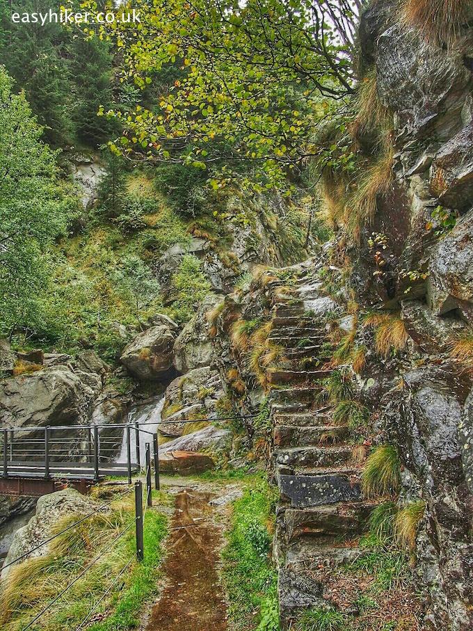 """a climb on the trail around Lake Antrona"""