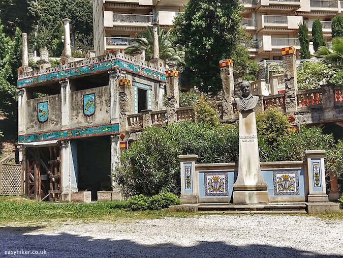 """parts of renovation inside the Fontana Rosa Most Famous Garden on the Riviera"""