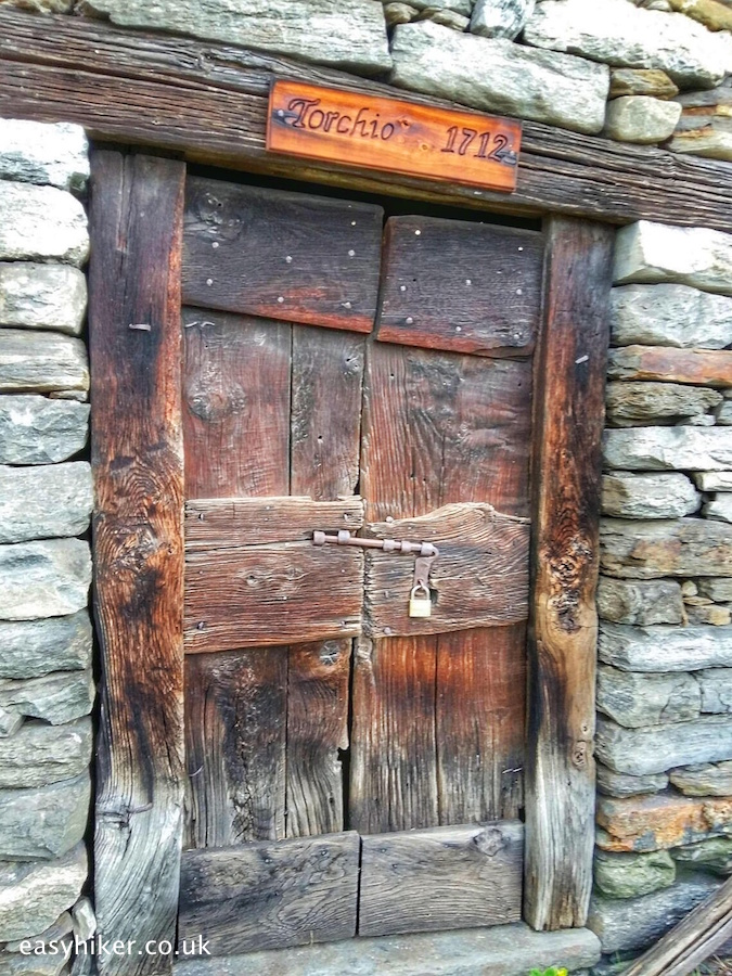 """locked up old wine press in the Ossola valley"""