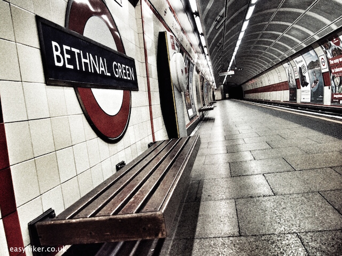 """some undead of London haunting the Bethnal Green underground station"""