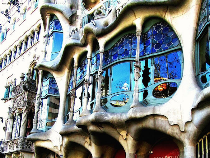 """a gaudy Gaudi building in Barcelona - one of the Five Reasons to Visit Barcelona"""