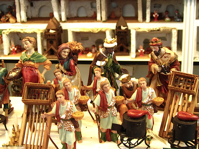 """Christmas figurines in a Catalunian Christmas market - one of the Five Reasons to Visit Barcelona"""