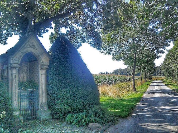"""a roadside shrine of St Joseph in Northwest Germany"""