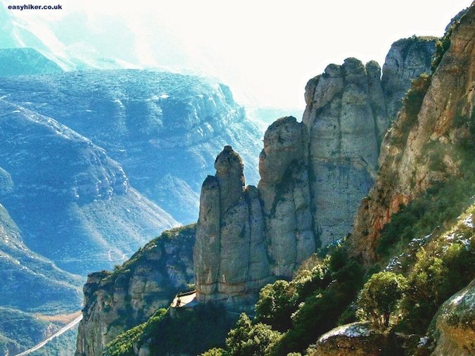 """rocks of Montserrat in Barcelona - one of the Five Reasons to Visit Barcelona"""