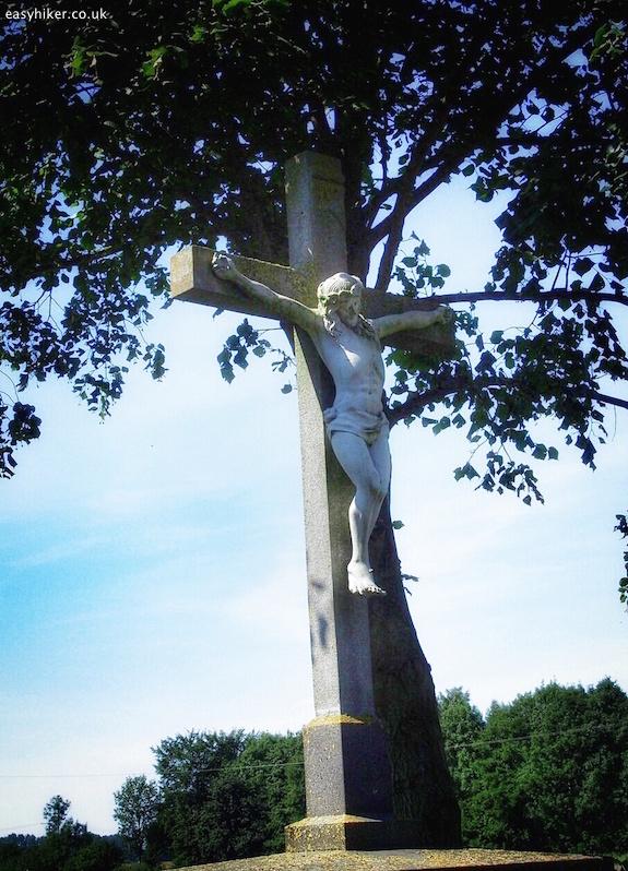 """Christ on the crucifix - a roadside shrine of northwest germany"""