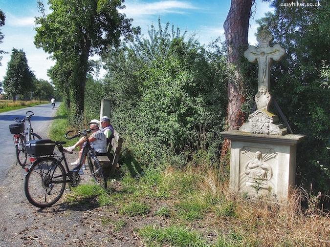 """roadside shrine in Northwest Germany in honour of farmers killed"""